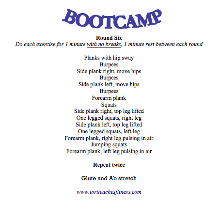 Bootcamp Round Six