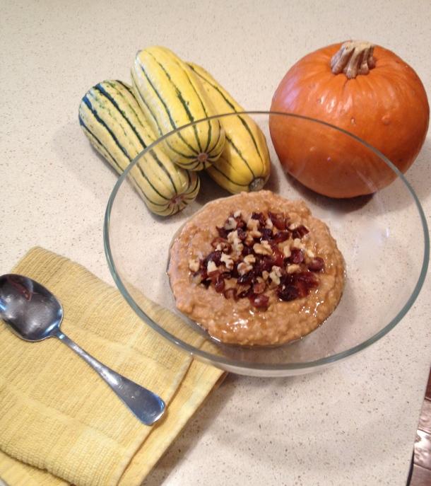 creamy pumpkin oats 1