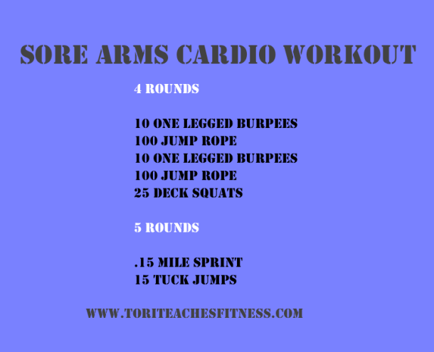 Sore Arms Cardio Workout