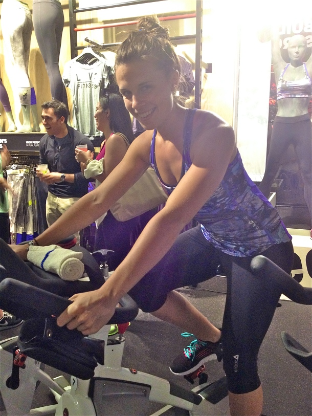 Spin time! Don't I look like a natural?  ;)