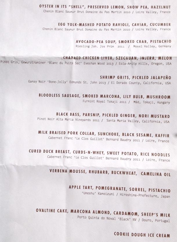 WD50 menu
