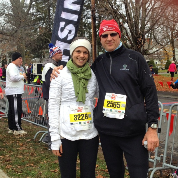 Dad and I at the finish line!
